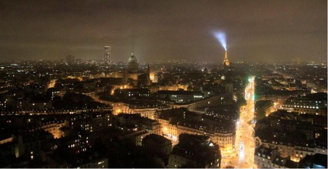 Vu Paris de la tour Zamanski de l'UPMC